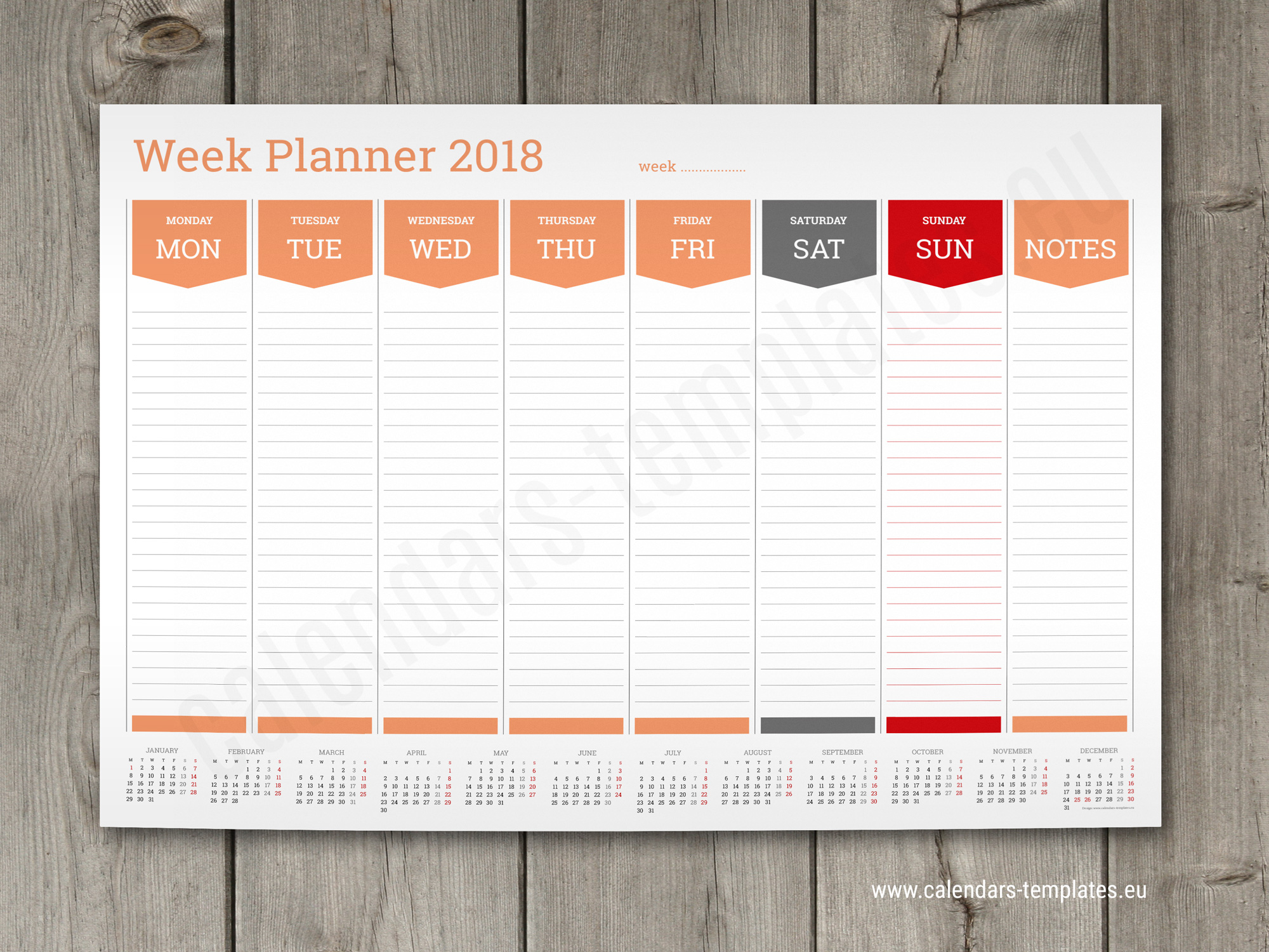 academic year wall planner free download