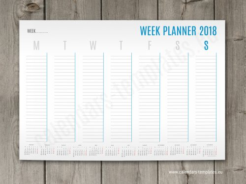 printable a3 weekly planner template