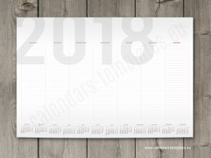 Weekly Planner Agenda 2018 templates