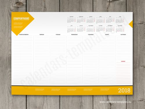 weekly desk pad planner template