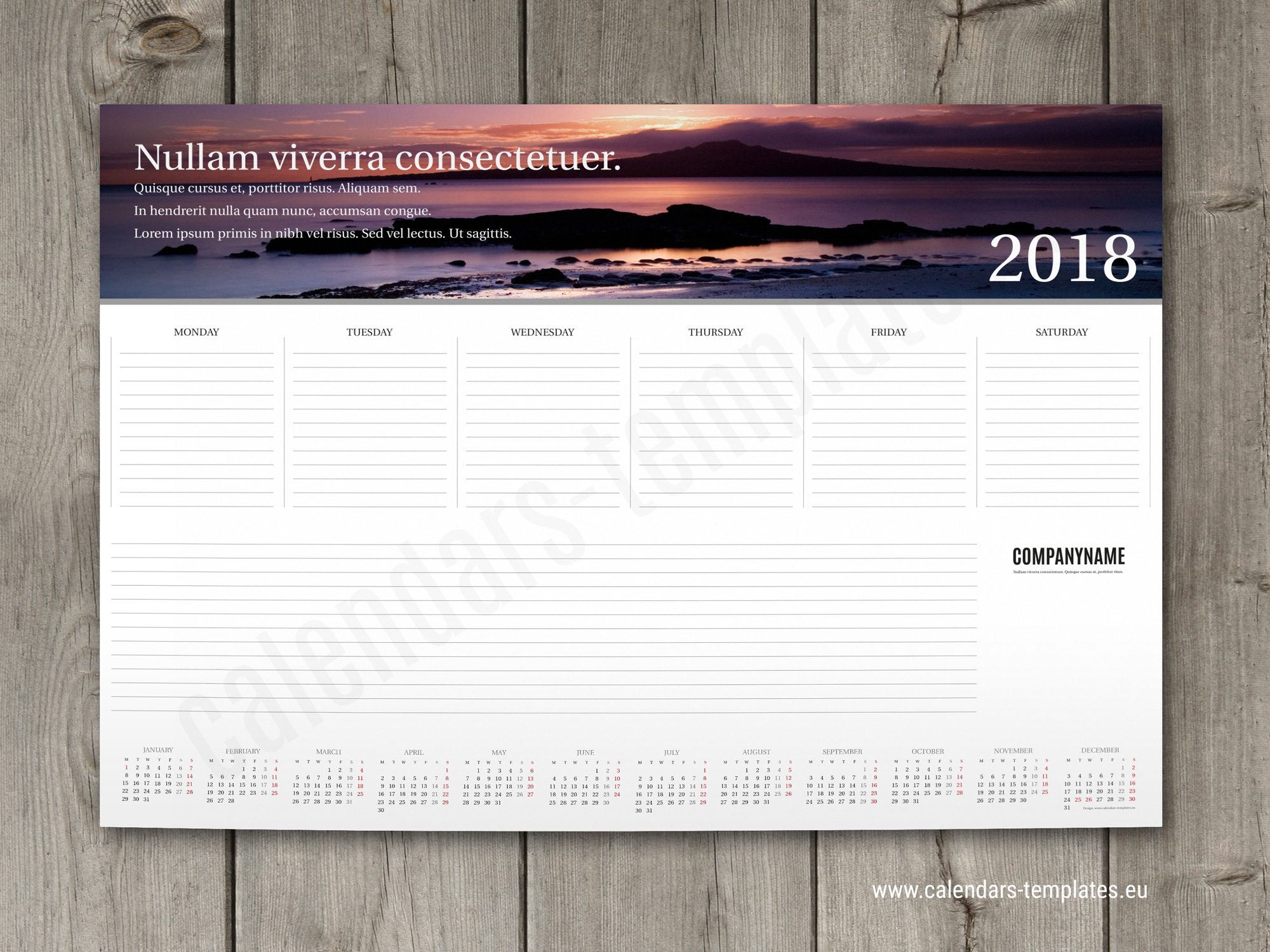 Weekly planner pad template 2018 with small yearly calendar and photo weekly planner pad 2018 maxwellsz