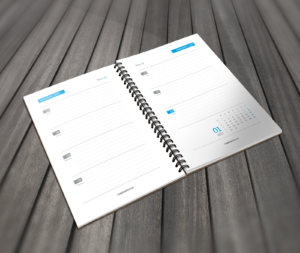 printable daily calendar template blue