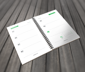 printable daily calendar template green