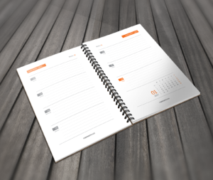 printable daily calendar template orange
