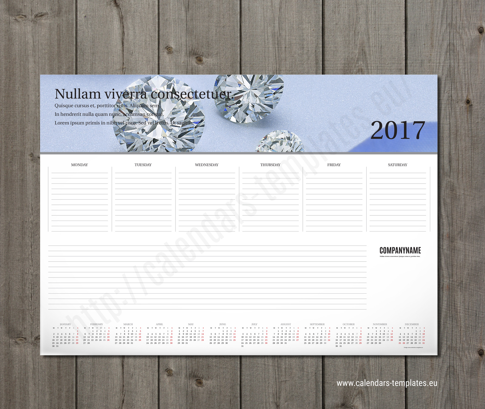 Weekly planner pad template 2018 with small yearly calendar and photo printable weekly planner pad maxwellsz