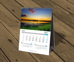 custom desktop photo calendar template