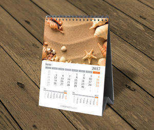 vertical custom desktop photo calendar template