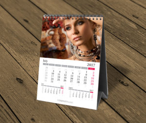 portrait custom desktop photo calendar template