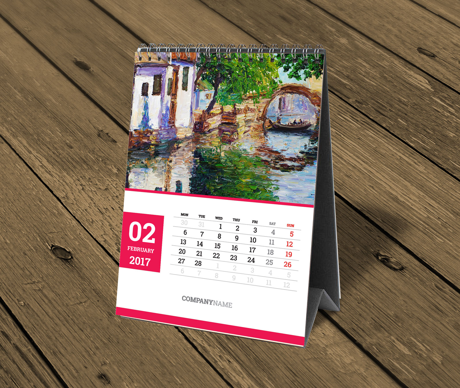 Sample Of Calendar Design : Custom table calendar template photo desk