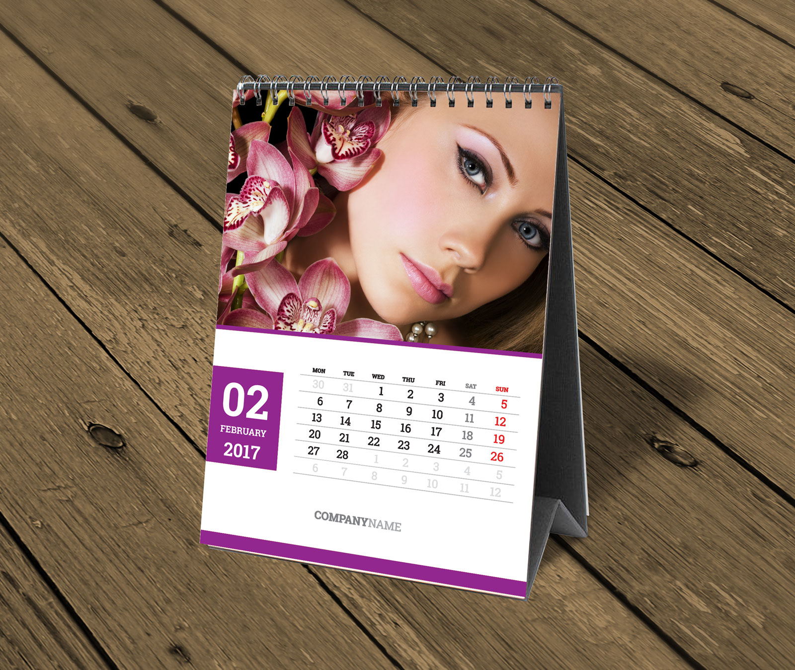 Handmade Table Calendar Designs : Custom table calendar template photo desk