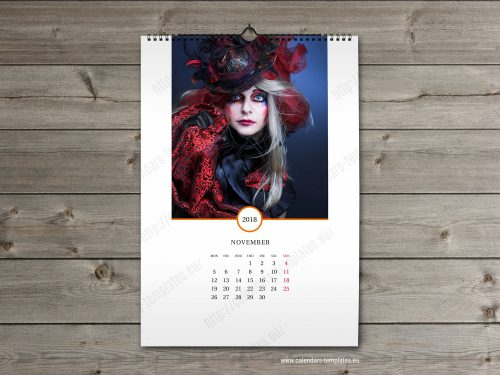 2018 Multipage wall calendars