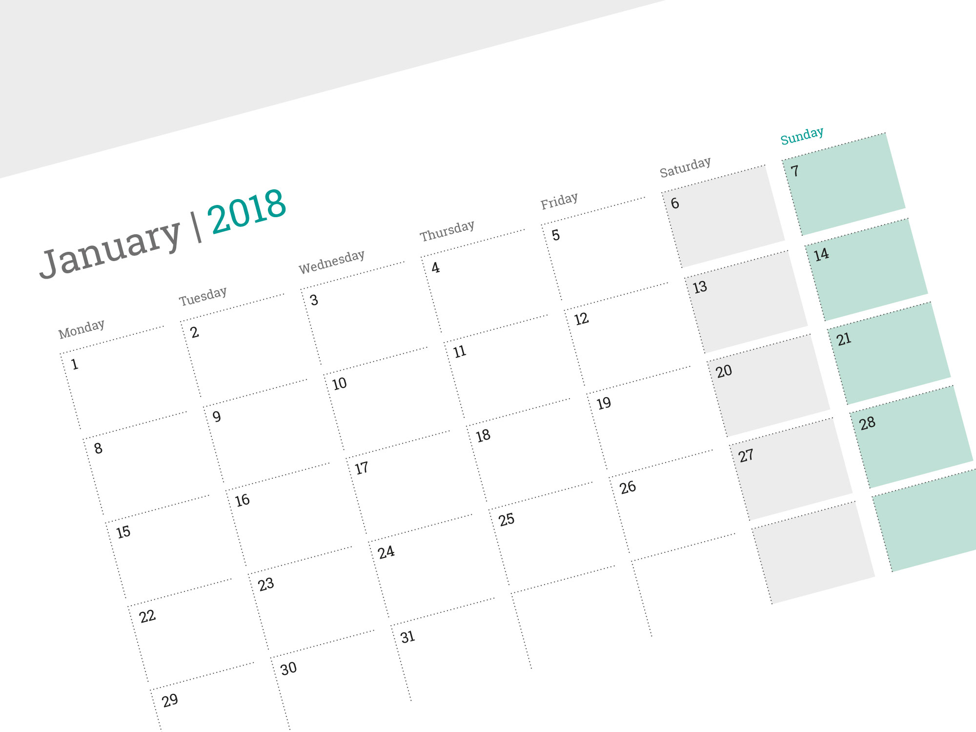 Blank Calendar Desk Pad : Monthly wall planner template printable photo