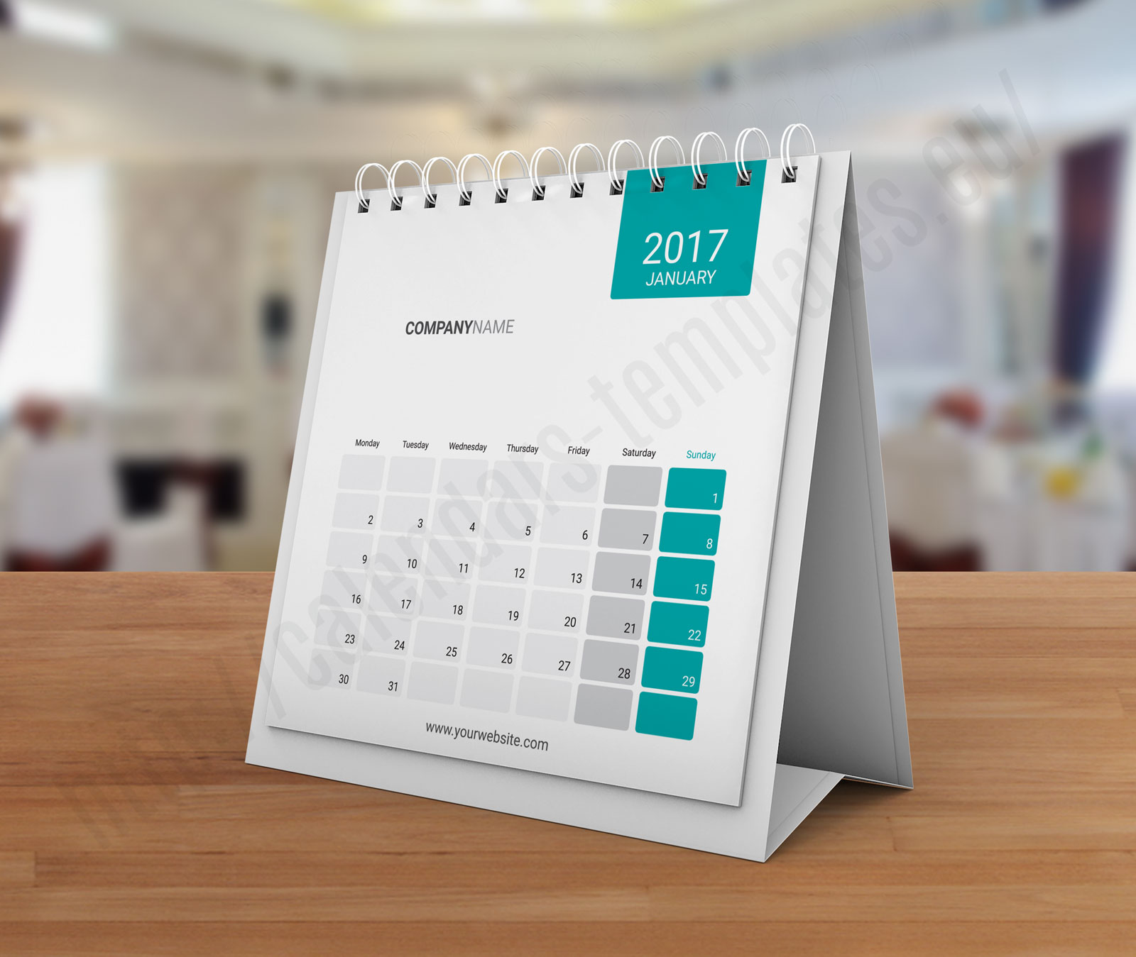 Sample Of Calendar Design : Desk tent calendar kb w template