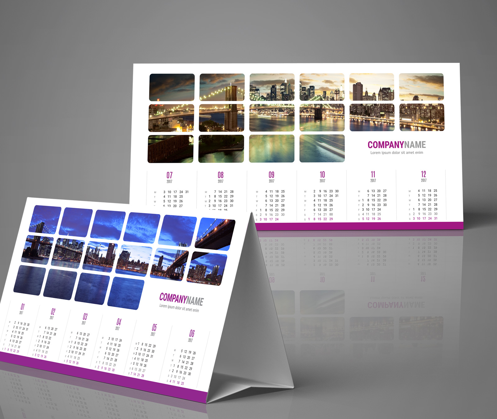 Yearly desk tent calendar template & 2018 Desk Yearly Tent Calendar Template KB60-W1. Desktop calendar
