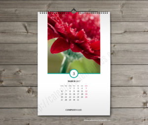 photo month calendar template