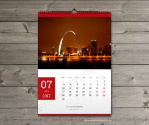 photo yearly monthly calendar template june