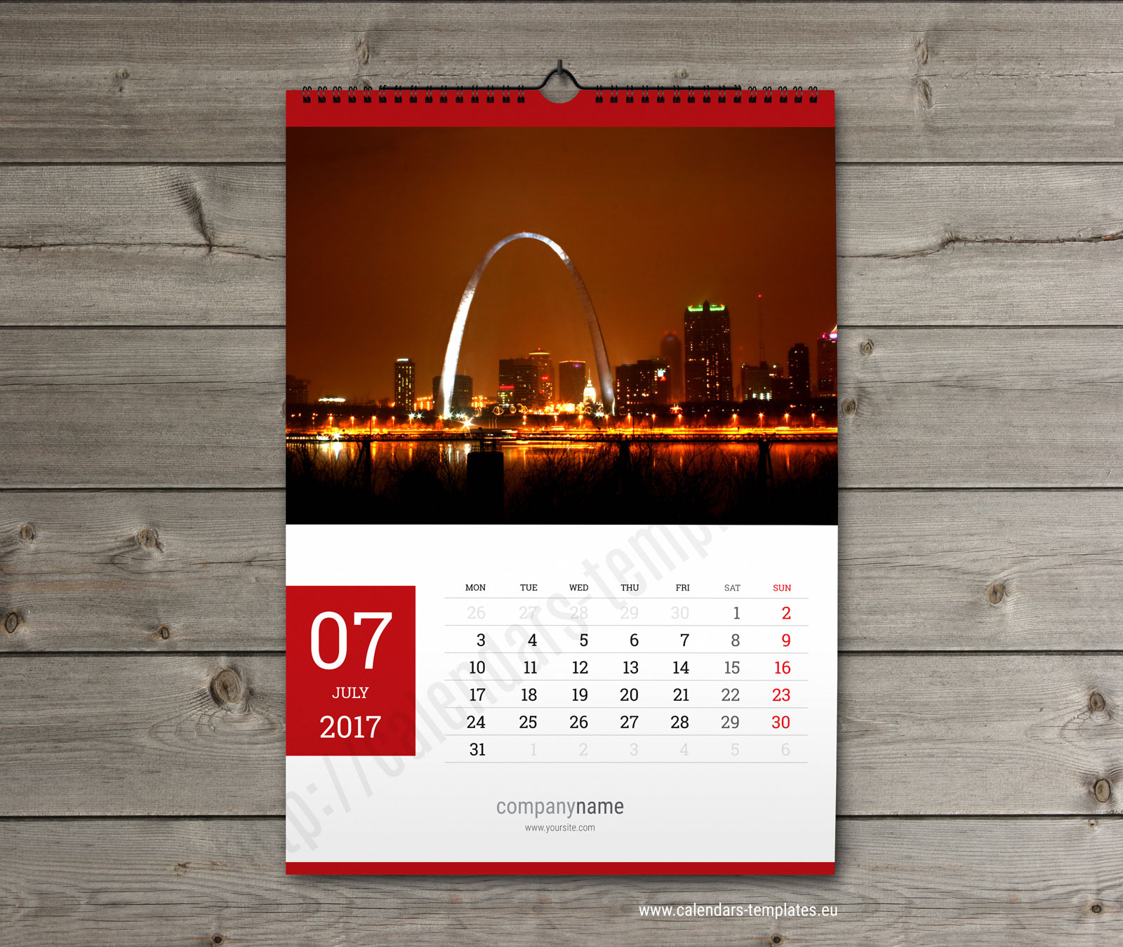 Wall Calendar Design Templates : Calendar template printable pdf wall a and