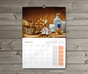 custom photo monthly wall planner template