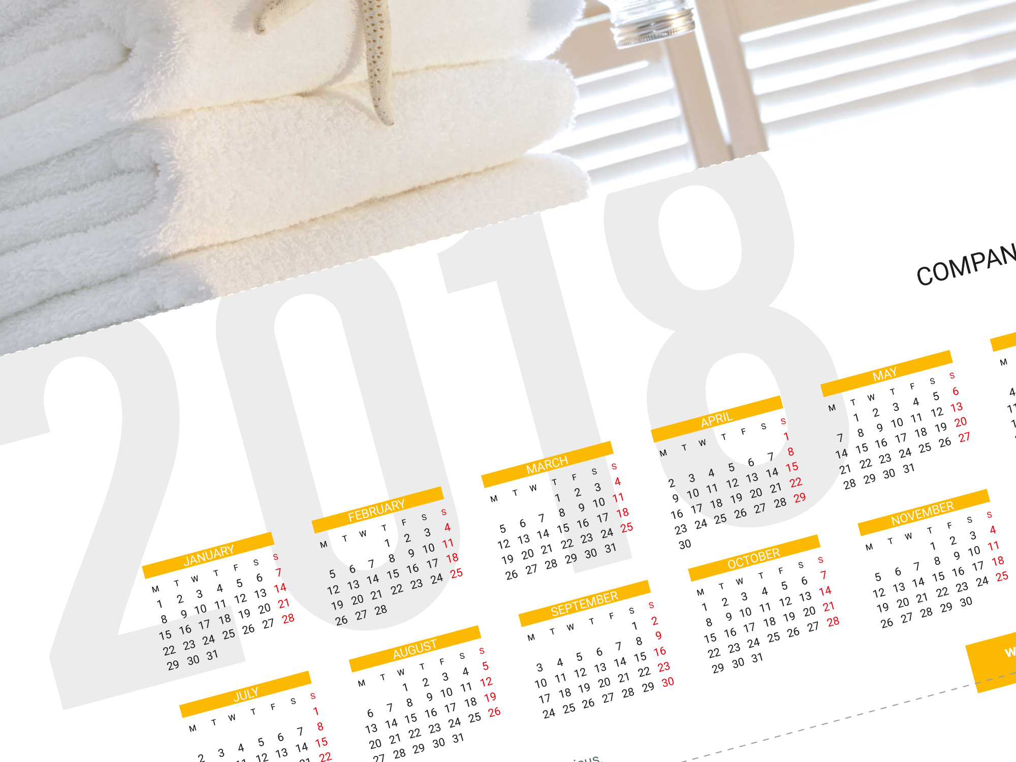 Desk calendar KB60-W2 | Template