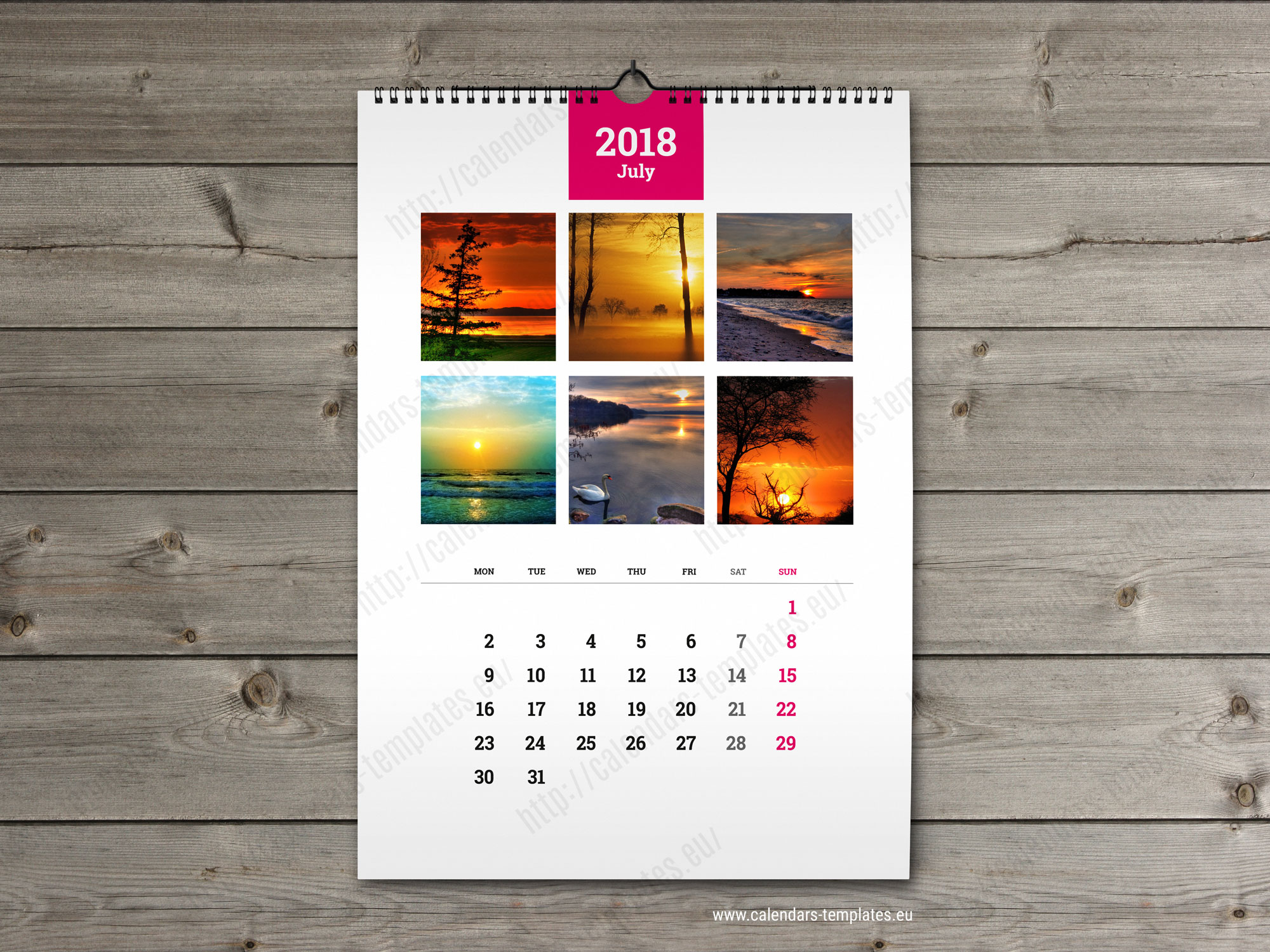 wall calendar a3 printable photo yearly monthly calendar template. Black Bedroom Furniture Sets. Home Design Ideas