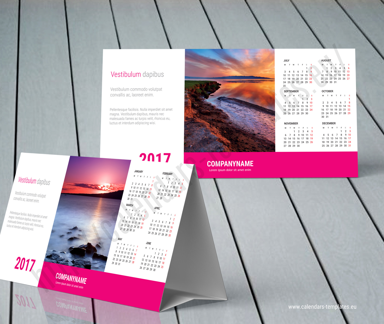 Desk Calendar Template Table Tag Best Free Home
