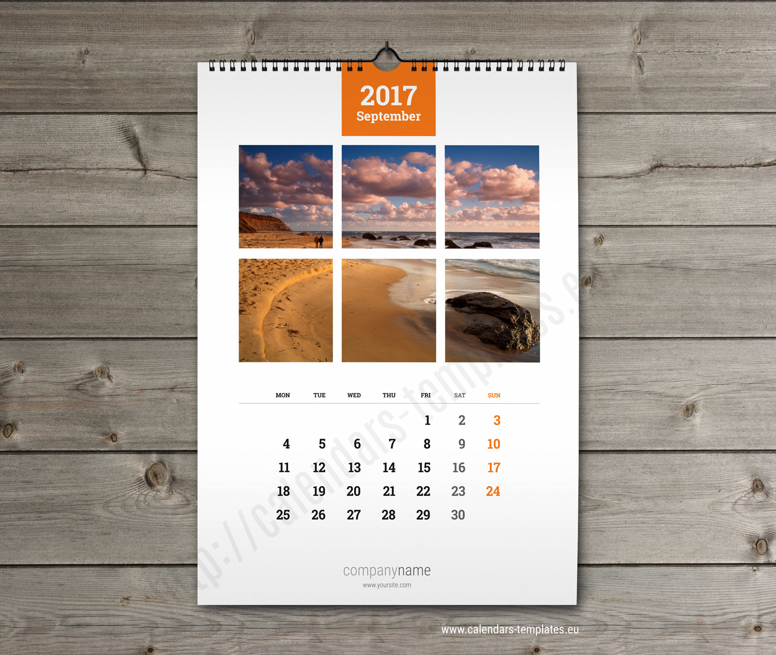 Hanging Calendar Design : Wall calendar a printable photo yearly monthly