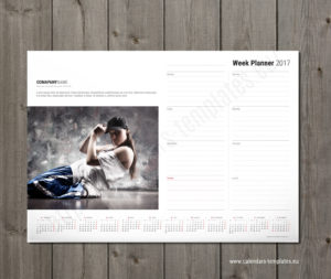 photo weekly calendar pad with yearly calendar