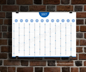 Big Annual Planner Template - blue