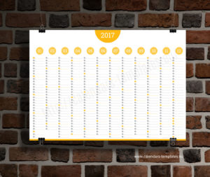 Big Annual Planner Template - yellow