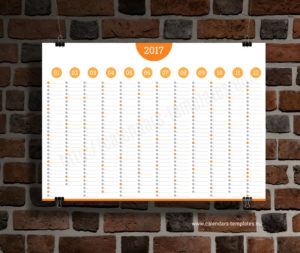 Big Annual Planner Template - orange