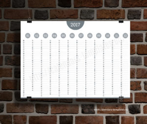 Big Annual Planner Template - grey