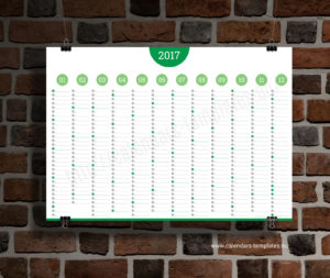 Big Annual Planner Template - green