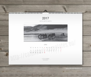 Photo wall calendar template