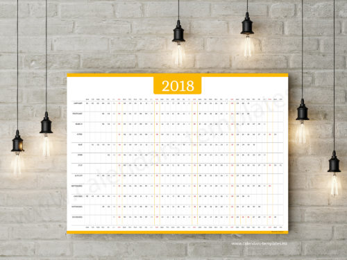 2018 year planner template