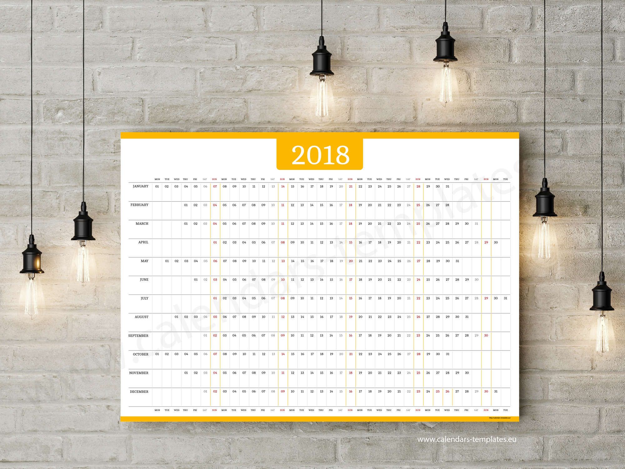 yearly calendar template