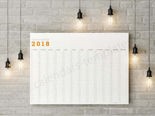 wall planner 2018 template