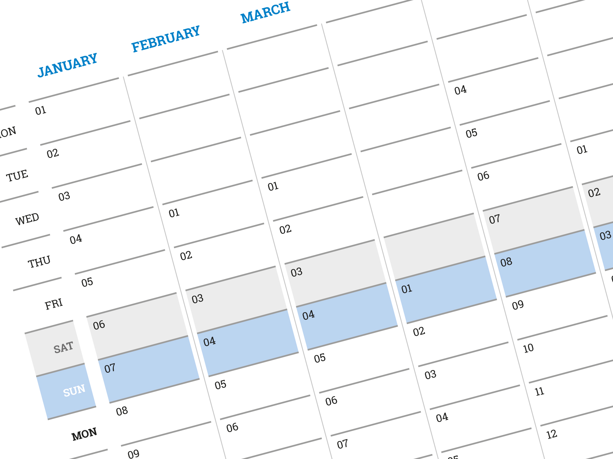 Calendar Planner Template : Best vertical yearly planner calendar template