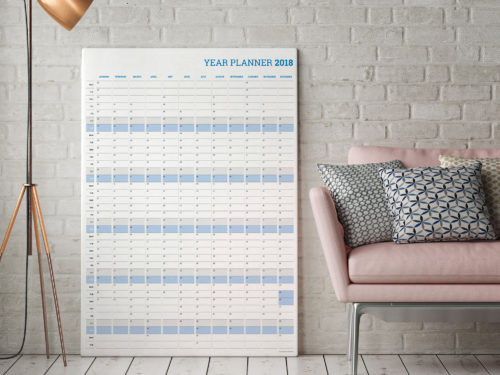2018 vertical yearly planner