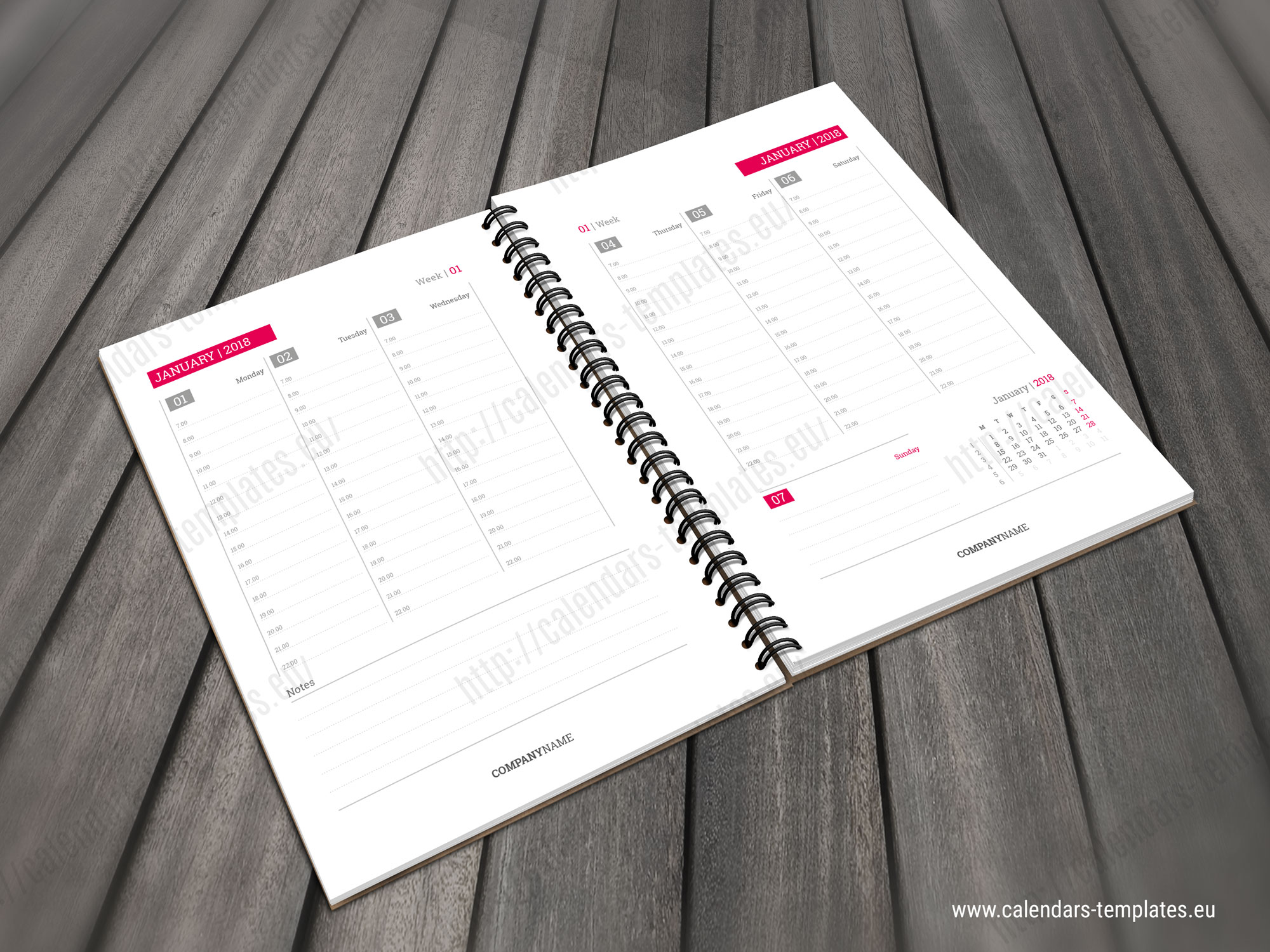 Printable Daily Planner Template In Pdf And Indesign