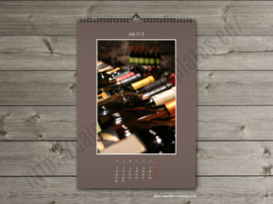 Custom photo wall monthly PDF calendar