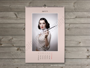 Printable photo wall A2 monthly PDF calendar