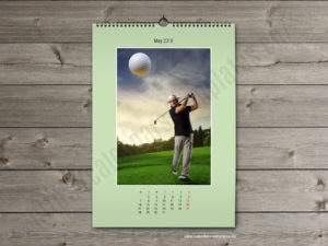 Printable photo wall A2 monthly calendar