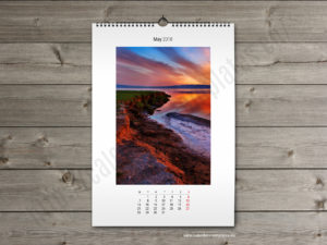 Printable photo wall A2 calendar