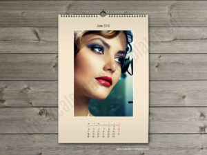 Printable photo wall A3 calendar