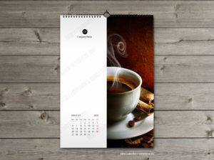 Elegant 2018 printable monthly wall calendar template