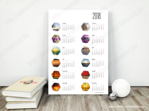 downloadable calendar template poster yearly calendar