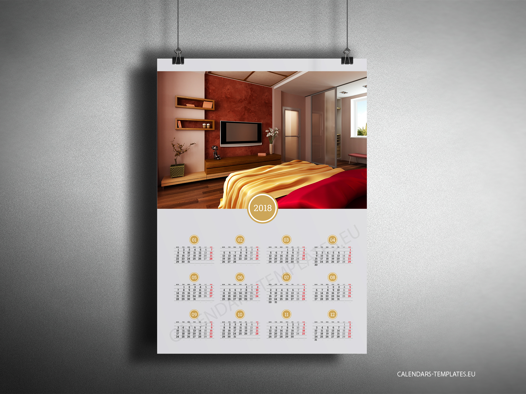 big year calendar 2018 with image in pdf format yearly wall calendar. Black Bedroom Furniture Sets. Home Design Ideas