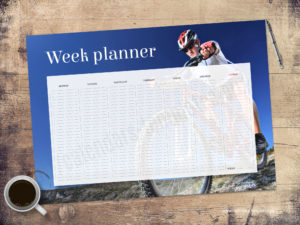 Printable A2 desk planner with photo