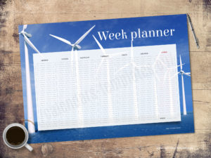 A3 desk planner with photo