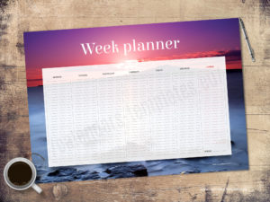 A2 desk planner with image